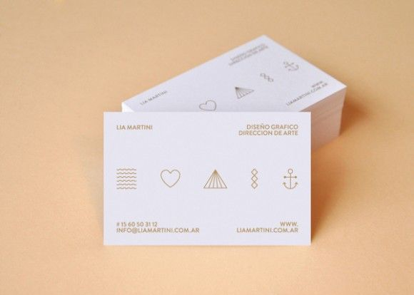 25 Clean and Minimal Business Cards