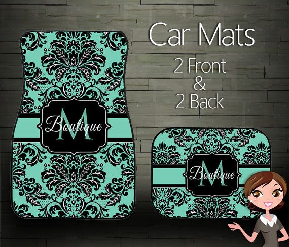 custom personalized  u0026 monogrammed car mats  choose your colors on etsy   39 99