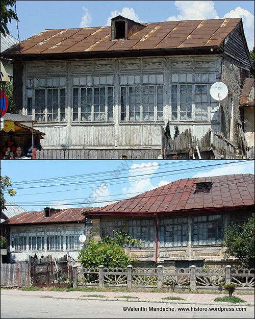 Old houses with glazed verandas, Targoviste, south east Romania