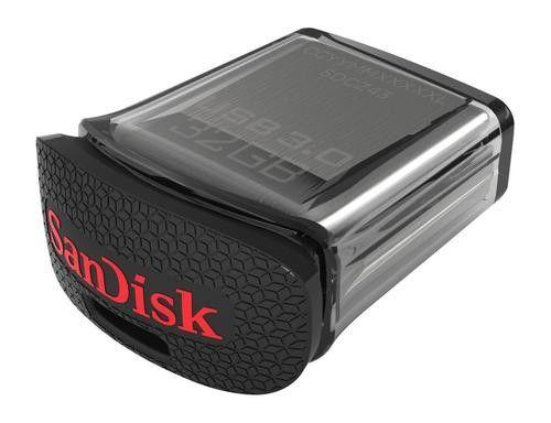 SanDisk - Ultra Fit 32GB USB 3.0 Flash Drive - Black/Silver