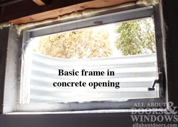How To Replace Basement Window In Concrete.