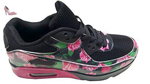 gibra , Baskets pour femme - Noir - Schwarz/Pink, 39 - Chaussures gibra (*Partner-Link)