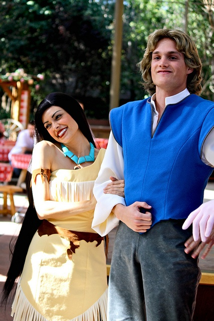 Pocahontas and John Smith, Long Lost Friends Week (April 9). Photo by #RachelElaine