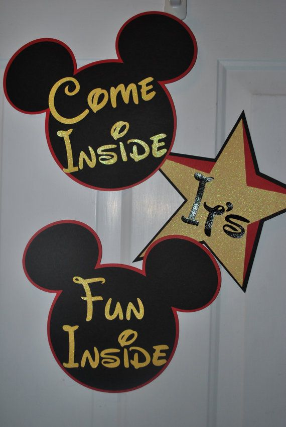 Mickey Mouse Decorations Birthday Nursery by SplitCoastCreations