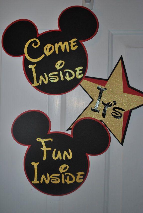 Mickey Mouse Decorations  Birthday Nursery  by SplitCoastCreations, $14.99
