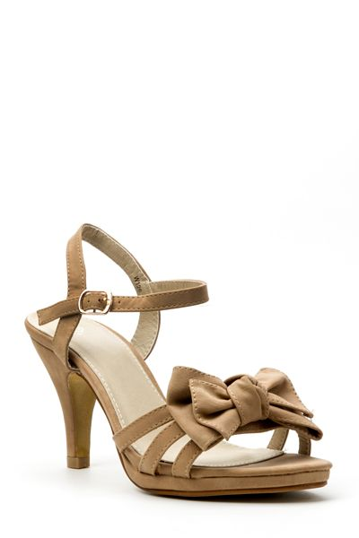 Multi Bow Strap Sandal Heels