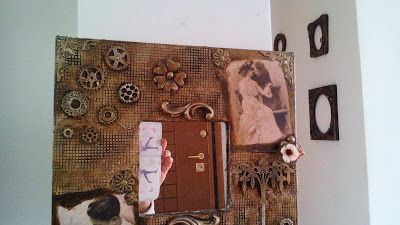 something to create: IKEA Mirror Decoupage
