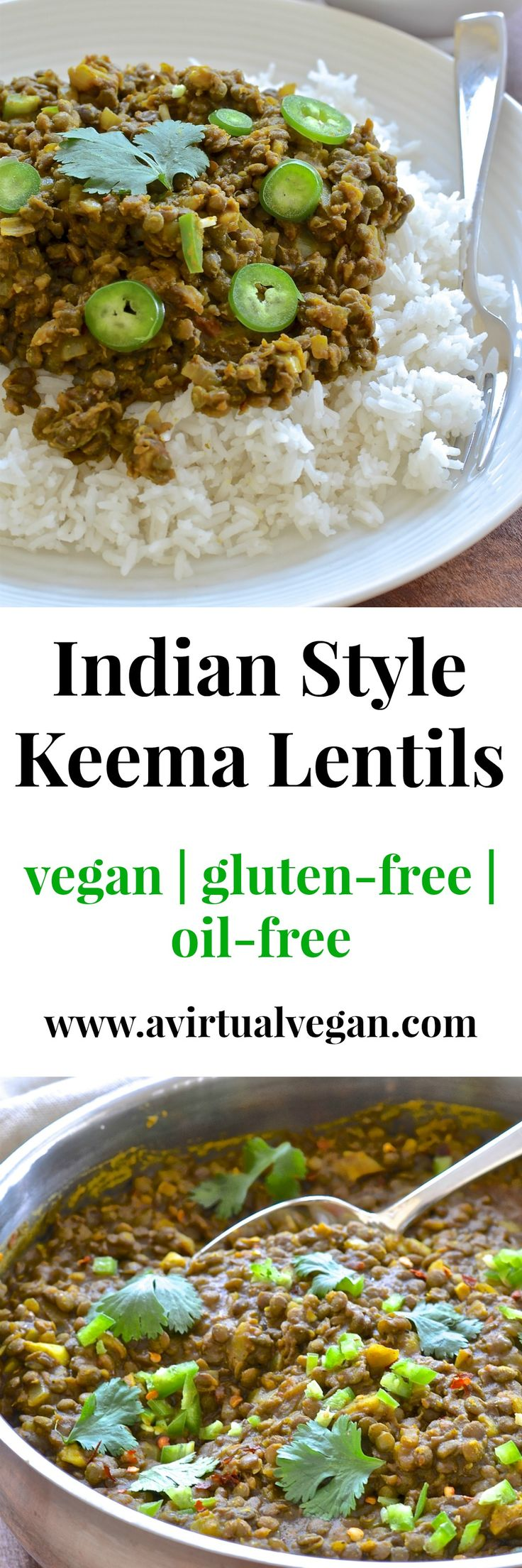 These spicy & flavourful Indian style Keema Lentils are ridiculously easy to make. Cook in a pan for a speedy dinner or use a slow cooker for a more leisurely approach. Serve with my simple & refreshing cucumber raita & some rice for a delicious & satisfying meal.  via @avirtualvegan