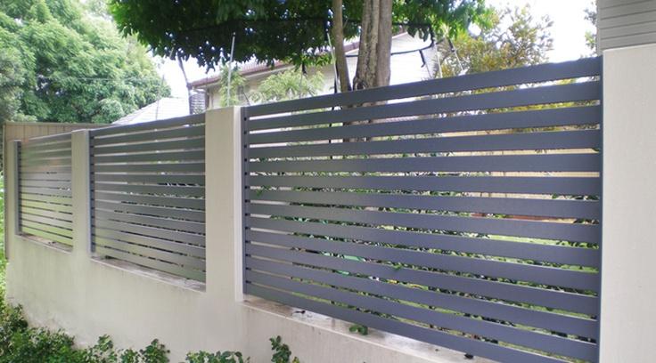 Aluminium slat fence