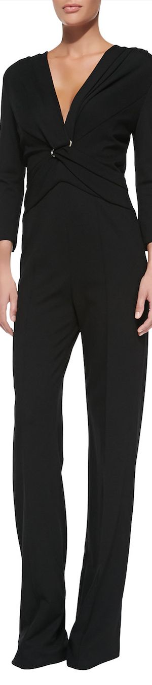 Escada ● Long-Sleeve Pantsuit Illusion Jumpsuit