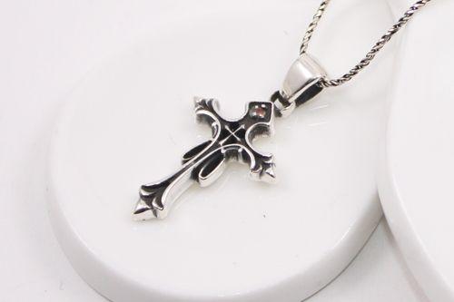 Double Cross Chrome Hearts Style Necklace  £39.99  http://www.estherscourt.co.uk/product/double-cross-chrome-hearts-style-necklace/ #necklace #chrome #silver #cross #pendant #fashion #girls #UK #handmade #jewelry