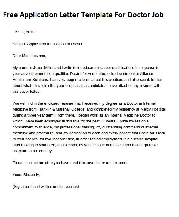 cover letter for doctors   Hadi.palmex.co