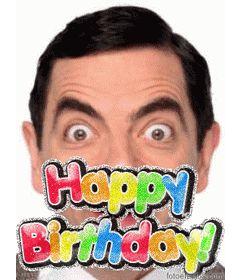 Montaje fotográfico para hacer tu propia tarjeta de cumpleaños, que podrás personalizar con una foto. La plantilla de este fotomontaje, consiste en un colorido texto, happy birthday, con brillo animado. Para desear feliz cumpleaños. www.fotoefectos.com