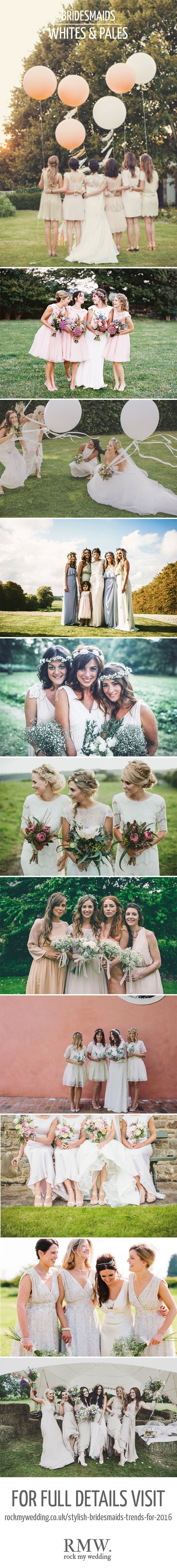 White Bridesmiaids Dresses | Bridesmaid Inspiration | http://www.rockmywedding.co.uk/stylish-bridesmaids-trends-for-2016/