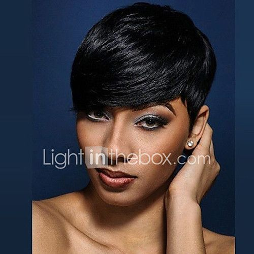 Natural Wavy Short Human Hair Wigs For Black Woman - USD $32.85 ! HOT Product! A hot product at an incredible low price is now on sale! Come check it out along with other items like this. Get great discounts, earn Rewards and much more each time you shop with us!