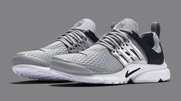 Nike Air Presto Metal Mesh feature a synthetic toecap with a Metallic  Silver cage and include a Black heel. The Metal Mesh Nike Air Presto release  date set