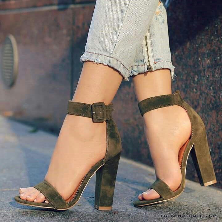 Zapatos negros Tacón cuadrado estilo militar para mujer 7cyxNMoW