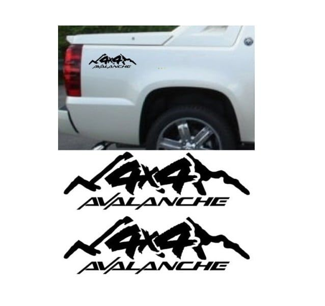 Chevy Chevrolet Avalanche Sticker Set Of 2 Truck Decals With