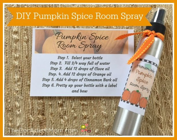 This all natural pumpkin spice room spray uses the perfect for How to make pumpkin spice essential oil