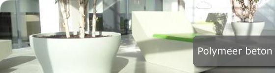 Deze plantenbakken worden vervaardigd uit Polymeerbeton, ook wel bekend als polyesterbeton.  Polymeerbeton plantenbakken zijn oer sterk en daardoor uitermate geschikt voor bedrijfstereinen, parkeerplaatsen en openbare ruimtes.  Te koop in onze webshop http://www.hettuinleven.com/c-2192817/polymeer-beton/