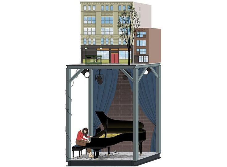 Michael Kirkham is an illustrator living in Edinburgh and working internationally. In many of his works he shows a specific interest in the built environment and uses techniques which allow him to draw interiors and exteriors scenes at once. Axonometric projections, perspective sections and the...