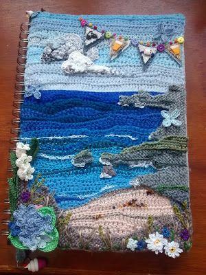 Crochet freeform seascape