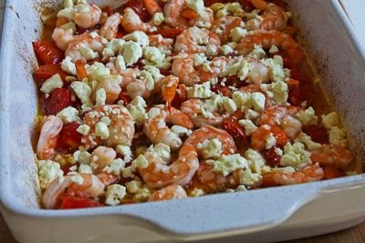 Easy Roasted Tomatoes and Shrimp with Feta, Oregano, and Fennel | Rec ...