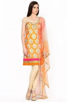 Orange Tunic With Jewel Neck  Rs. 8,873