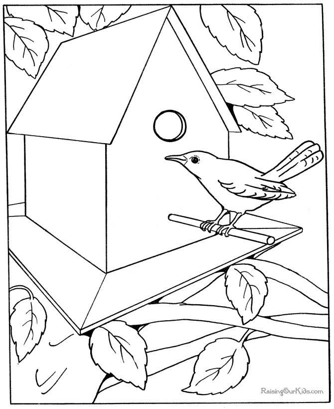 Free Coloring Pages Bird Houses. These free  printable house coloring pages and sheets of farm pictures are fun for kids Free kid page 37 best Art Drawing images on Pinterest How to draw Draw