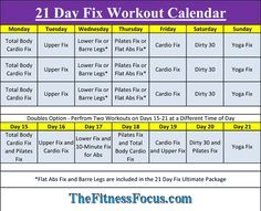 21 Day Fix Workout Schedule in excel or pdf format. I have also included copies of the Portion Control Diet Sheets for convenience.