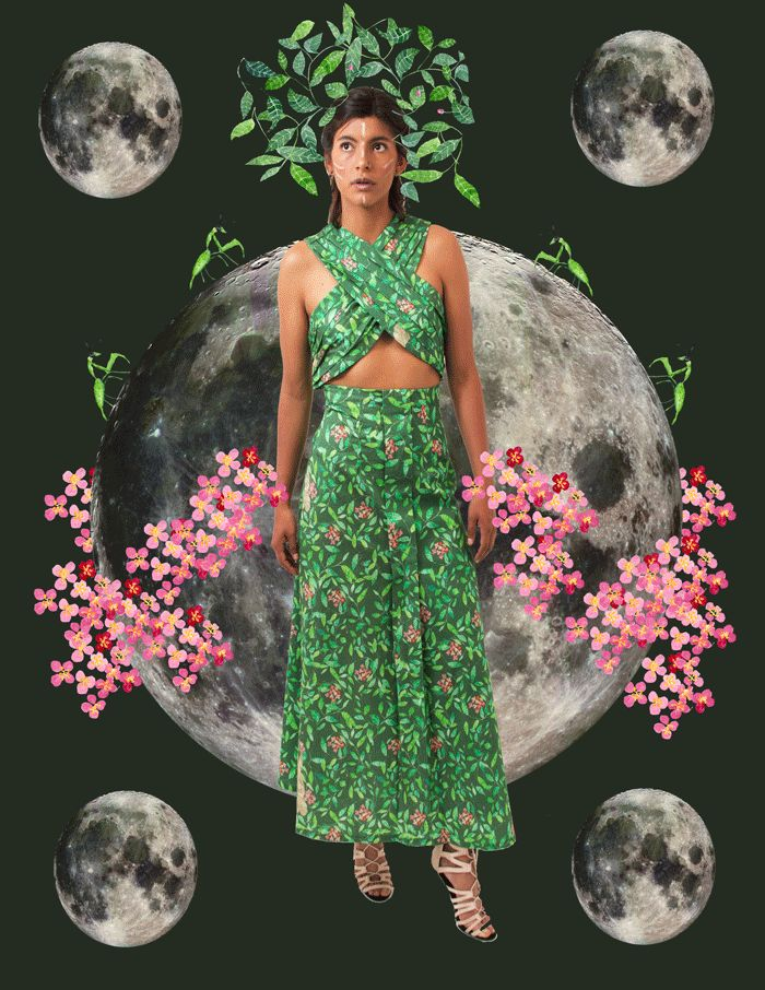 sustainable fashion amazon ecofashion organic cotton ayahusca yage yakruna ritual boho chic ecofriendly vegan gypsy shamanism SS17 dress  spring summer colombia moda sostenible fashion revolution ritual plantas sagradas chaman iliustracion diseño textil textil design patterns algodon organico comercio justo pantone primavera verano vegano chaman vestido amazona chamanismo ritual shamanism selva tropical jungla jungle rainforest modelo model amazonas latina latin