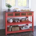 Warm Red Coffee Table, Tomato Red
