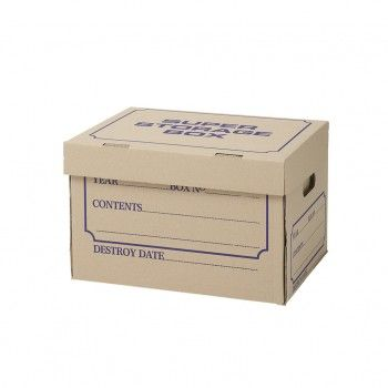 Archive Box - Designed for reliable stacking. One Piece Assembly. Double Thickness Base.