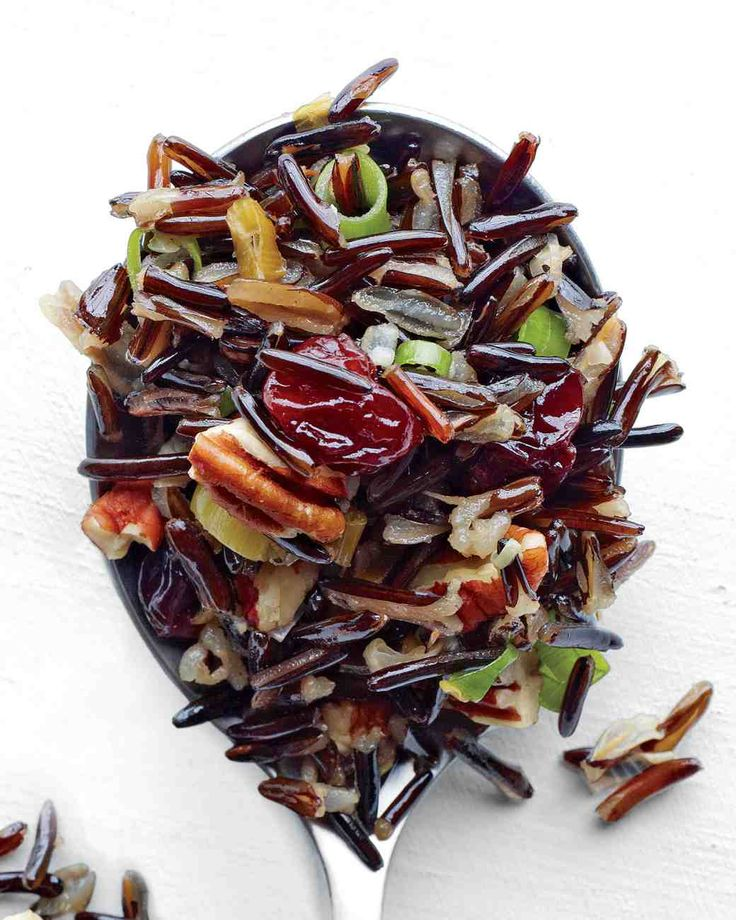 Wild Rice with Dried Fruit and Nuts #thanksgiving