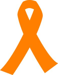 Orange Cancer (Leukemia) ribbon.  I want to help raise money for Leukemia research