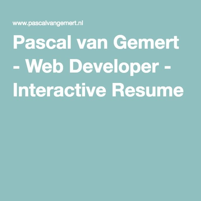 Best 25+ Web developer resume ideas on Pinterest Web development - front end developer resume