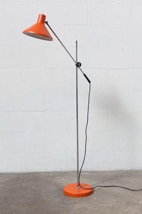 Orange Hala  Zeist Style Floor Lamp