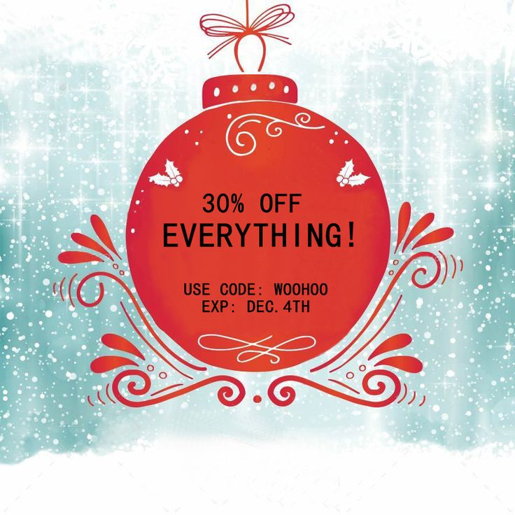 Yes You Heard Right ! 30% off on    E V E R Y T H I N G, Hurry Promo Ends Dec.4th ! Shop Now : http://thepotterspot.com/