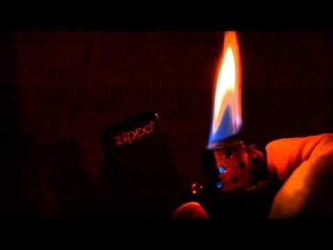 zippo burning - YouTube