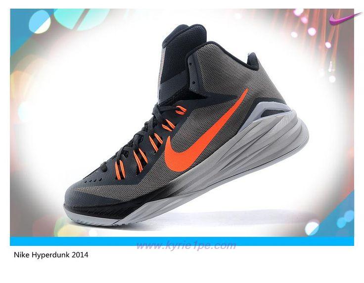 scarpe da basket migliori Uomo-Donna 653640-030 Gray / Arancione Nike  Hyperdunk 2014