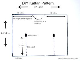 Trash To Couture~~DIY Kaftan pattern. These are great!