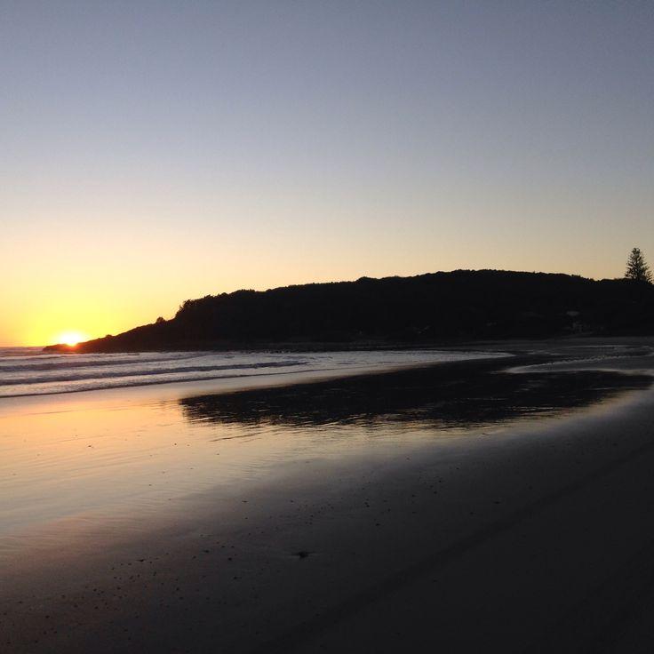 Sunrise over the beach.