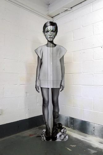 Miss Bugs, 'Cut Out Fade Out', Street Art ----Artist collaboration in London started in 2007