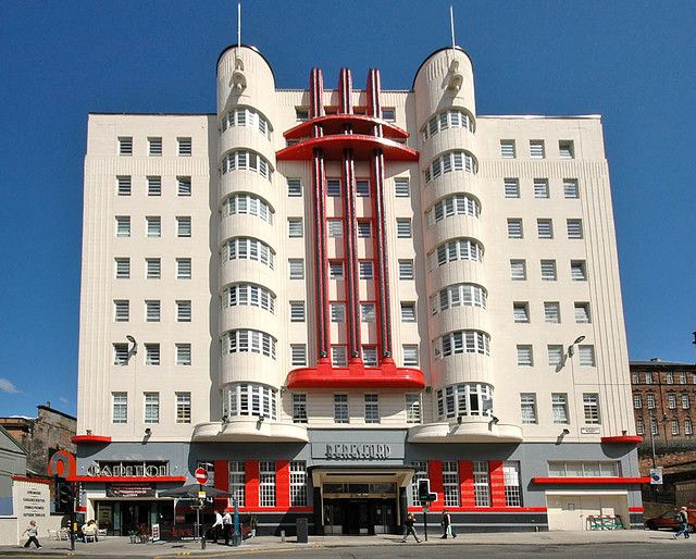Art Deco Hotel then turned student accommodation in the City Centre of Glasgow, Sauchiehall Street