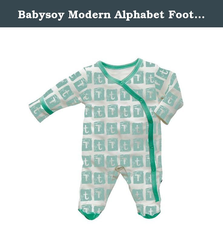 Babysoy Modern Alphabet Footie (03-06 Months, T). Babysoy introduces the Modern Alphabet Collection. With modern color palette and stylish alphabet graphics on our signature luxurious comfy and soft fabrics. A-Z reason for parents to pick a color, a letter or both to put on their cute little ones. Size 0-3, 3-6 has reverse mitten to protect babies from scratching themselves.