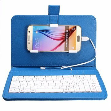 General Wired Keyboard Flip Holster Case For Android Mobile Phone 4.2''-6.8'' Sale - Banggood.com