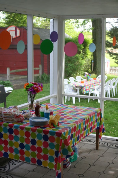 Polka Dot Party  Love the tablecloth