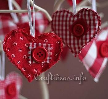 primitive valentine's day decorations   Sewing Project for Valentine's Day - Fabric Country Hearts Ornaments