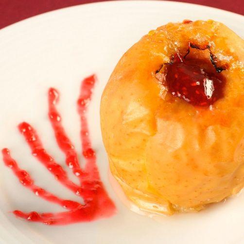 Manzanas en papillote, con salsa de frambuesa para #Mycook http://www.mycook.es/receta/manzanas-en-papillote-con-salsa-de-frambuesa/