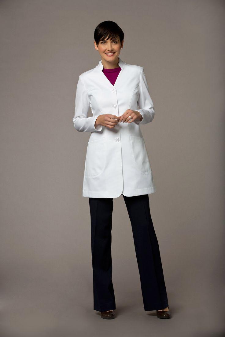Womens lab coat hanna m front